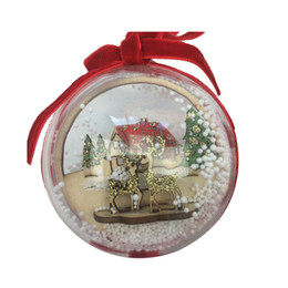 $enCountryForm.capitalKeyWord UK - Christmas Hanging Plastic Clear Ball Transparent Flower Ball Christmas Gift Candy Ball Festival Wedding Party Decorations 12cm 13.6cm 14.6cm