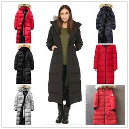 $enCountryForm.capitalKeyWord Australia - Canada Women's Down Jackets Parka Hooded with Fur Collar Travel Winter Thick Warm Windproof Goose Long Coat Overcoat Outdoor Hooded Outwear