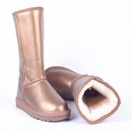 $enCountryForm.capitalKeyWord NZ - High tube metal ladies snow boots waterproof non-slip tendon bottom flat shoes Russian warm women's boots large size 35-44