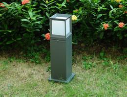 Lawn Lamp post online shopping - 15W Waterproof LED Garden Lawn Lamp Outdoor Front Courtyard Villa Landscape Light Aluminum Pillar Post Lighting LLFA