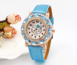 38674a39073 2018 New Hot Sales Lovely Hello Kitty Watch Children Girls Women Fashion  Crystal Dress Quartz Wristwatches Kids Watch
