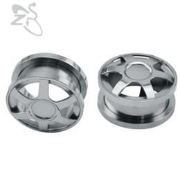 $enCountryForm.capitalKeyWord UK - Stainless Steel Wheel Ear Plugs Tunnels Expander Piercing Body Jewelry Punk Men Higt Quality Ear Tunnel Hollow Gauges