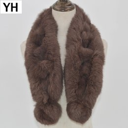 Fur Scarves Sale NZ - 2018 Hot Sale Women Real Rabbit Fur Scarf Genuine Real Rabbit Fur Scarves Fashion Thick Warm Soft Winter Neckerchief