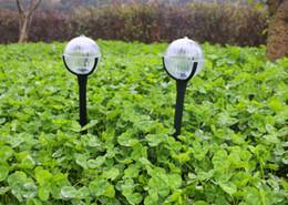 2018 Creative Solar Garden Light Outdoor Lighting RGB Ball Crystal Sphere  Zen Staff Lawn Lamp Waterproof Light Sensor 10cm Diameter