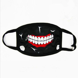 tokyo ghoul masks UK - Tokyo Ghoul Kaneki Ken Horror Halloween Cosplay Mask, Winter Anti-Dust Cotton Funny Warm Face Mask Mouth Muffle fast shipping