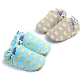 Plastic Chicks Australia - Baby Shoes Toddler Baby Boy Girl Crib Shoes Cute chick Anti-slip Prewalker Baby Slippers