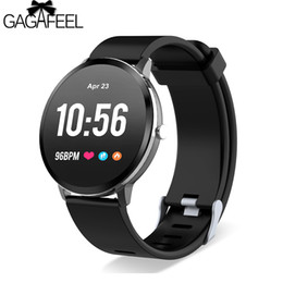 brown tempered glass UK - GAGAFEEL V11 Smart Watch Activity Fitness Tracker IP67 Waterproof Tempered Glass Heart Rate Monitor BRIM Men Women Smartwatch