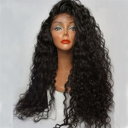 Indian Women Long Hair NZ - Natural Color Brazilian Non Remy Hair Full Lace Long Curly Human Hair Wig For Black Women Lace Front Wig With Baby Hair