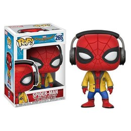 $enCountryForm.capitalKeyWord UK - WHOLESALE Funko POP Spider Man Bobble Head Vinyl Action Figure With Box Toy for childrens gift hot sell Doll Good Quality