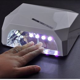 $enCountryForm.capitalKeyWord NZ - Professional Diamond Shape Nail Dryer LED UV Lamp 36 w Gel Nail Machine Dry Nails, Nail Polish Tool Protection Lamp For Manicure D18111404