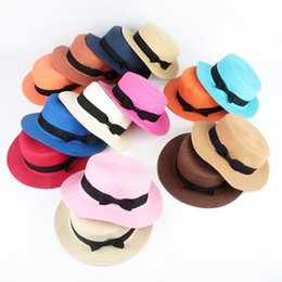 straw hat boater 2019 - 2018 Hot Summer Women Boater Beach Hat Female  Casual Panama Hat c39872f21a07