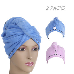 Bath Nice 4pcs Microfiber Hair Drying Towels Fast Drying Hair Cap Long Hair Wrap Hair Towel beige, Dark Purple, Light Pink, Light Blue