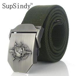 snake belts for men 2019 - SupSindy men's canvas belt Skull Snake metal buckle military belt Army tactical belts for Male top quality men strap
