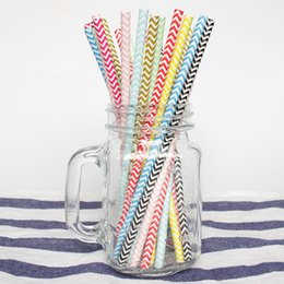 Chinese  Bulk 25pcs set Wave Biodegradable Paper Straws Kitchen Accessories Party Supplies Wedding Decoration Home Decor Gadgets for Tumblers Cups manufacturers