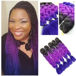Discount hair for twists - Synthetic Hair Jumbo Braid Ombre Color Jumbo Braiding Hair for Crochet senegaless Braids Twist crochet hair