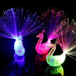 Best Toys NZ - 2018 NEW Novelty Design Colorful Light Peacock LED Light-up Finger Toys Best Christmas Halloween Party Gifts MYY
