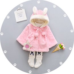 $enCountryForm.capitalKeyWord Canada - winter baby girls coat clothes kids girls faux fur thermal jackets cute cartoon rabbit hooded princess toddler infant outerwear