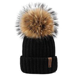 Beanies For Winter Australia - Furtalk Knitted Real Fur Hat 100% Real Raccoon Fur Pom Pom Hat Winter Women Hat beanie for women S18101708