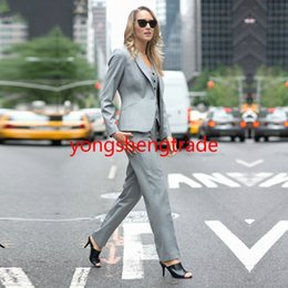 $enCountryForm.capitalKeyWord NZ - Hot Selling Gray Custom Made Women Business Suit JACKET+PANTS+VEST 109