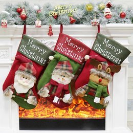 Kids Craft Making UK - Christmas Stockings Hand Made Crafts Children Candy Gift Santa Bag Claus Snowman Deer Stocking Socks Xmas Tree Decoration toy gift #13 14 15