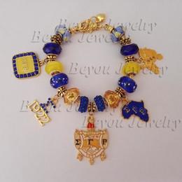 Vintage tin jewelry box online shopping - Sigma Gamma Rho Sorority Bracelet SGR Charm Bead Shield Charm Retro Jewelry Bracelet Vintage Bangle Jewelry Accessory