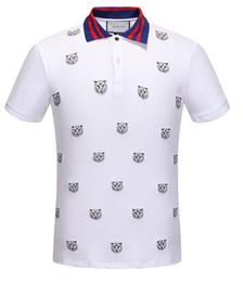 diy summer clothing 2018 - 2019 NEW Summer GC Mens Polyester Tiger printed Polo Shirt T-shirt Men Clothes Quick Dry DIY Logo Casual Shirt Size S-XX