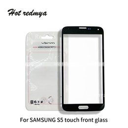 Samsung S5 Mini Touch Screen Australia - 50Pcs High Quality Front Outer Touch Screen Glass Panel For Samsung Galaxy S5 S5 mini LCD Front Glass Lens Replacement Free DHL