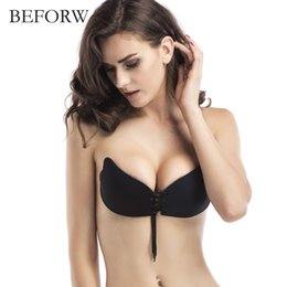f7c9436aa5 BEFORW Seamless Halter Sexy Bra Wedding Invisible Fly Bras Pull Rope Push  Up Bra Strapless Wire Free Underwear Women ABCD cups