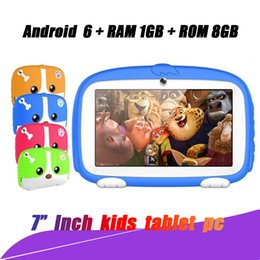 """A33 Quad Core Tablet Australia - Hop sell Kids Brand Tablet PC 7"""" 7 inch Quad Core children tablet Android 4.4 Allwinner A33 google player 512MB RAM 8GB ROM with package"""