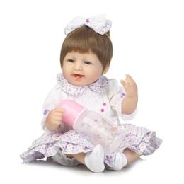 Sales Toys China Canada - 42cm Hot Sale Cheap Bebe Reborn Lifelike newborn Baby Bonecas baby reborn doll Kid Toy Soft Silicone Reborn Baby dolls Juguetes