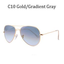 Sunglasses Sun Glasses NZ - new Brand men women driving glass lens Gradient sunglasses 58mm 62mm 3025 Mirror Fashion G15 sun glasses rayeds 3026 with case