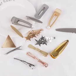 $enCountryForm.capitalKeyWord Australia - 1pcs bag High Quality Metal Aligator Clips Teeth Single Hairpins Prong Handmade Hairband Bows' Barrette DIY Hair Accessories
