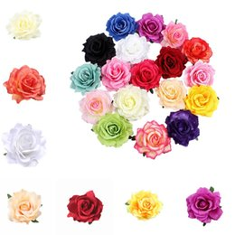 China 26 styles Simulation Rose Hairpin Seaside Sandy Beach Woman Brooch Flower Simulation Rose Flower Women Hair Pin T6I053 cheap fabric hair brooches suppliers