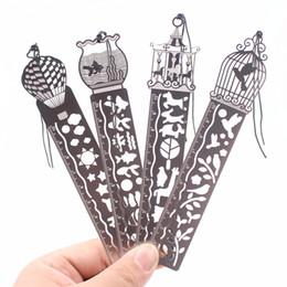 RuleR bookmaRks online shopping - 4pcs Cute Kawaii Creative Horse Birdcage Hollow Metal Bookmark Ruler For Kids Student Gift School Supplies