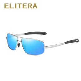 1deeb05d69 Slim Sunglasses NZ - ELITERA Polarized Sunglasses Men Slim Square Alloy  Frame Driving Male Sun Glasses
