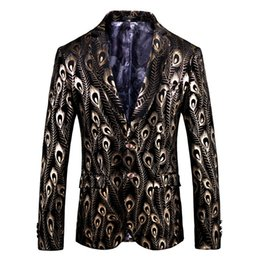 3dc772b52d0 Luxury Gold Black Velvet Blazer Hombre Baroque Fancy Prom Wedding Slim Fit  Blazer Masculino Plus Size 5xl Suit Jacket Men