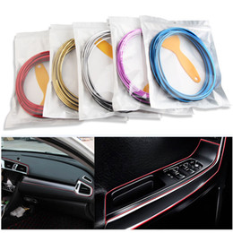 Moulding line online shopping - 5M bag Interior Decorative Line Strips Moulding Trim Dashboard Door Edge Universal For Car stickers Auto Accessories In Car Styling HH7