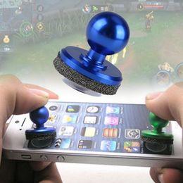 Azul pequeno tamanho vara mini game joystick touch screen joystick telefone celular mini-roqueiro joypad para iphone 6 7 s plus