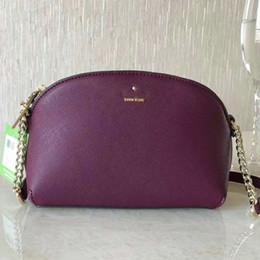 $enCountryForm.capitalKeyWord UK - KS New York Fashion Purse Cameron Street Hilli Crossbody Shoulder bags Leather Ladies Bag 20.3*13.7*7cm Black Red Rose Gold Plum
