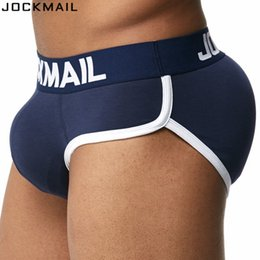 da6e27441c2 Wholesale-JOCKMAIL Brand Enhancing Mens Underwear Briefs Sexy Bulge Gay  Penis pad Front + Back Magic buttocks Double Removable Push Up Cup
