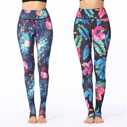 $enCountryForm.capitalKeyWord NZ - Womens Yoga Stirrup Pants Floral Digital Print Foot Pants Workout Running Dance Stirrup Trousers Super Elastic Tights Gym Fitness Leggings