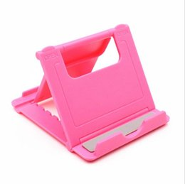 Stand Mount Holder For Tablet Australia - Universal Foldable Adjustable Stand Holder Cradle Compact Plastic Holder Stand Mount For i Phone Sam sung Mobile Cellphone phone Tablet