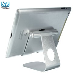 Discount stands ipad iphone - YUNAI Universal Aluminum Phone Tablet PC Holder Stand For iPad Mini Desktop Adjustable Stand Holder Mount For iPhone Sam