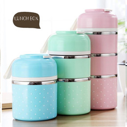 Wholesale Hot Sale Cute Japanese Thermal Lunch Box Leak Proof Stainless Steel Bento Box Kids Portable Picnic School Food Container