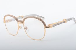 fashionable frame spectacles 2019 - 18 Best-selling High-quality Metal Leg Diamond Glasses, Fashionable Upscale Atmospheric Diamond Spectacle Frame 1116728-