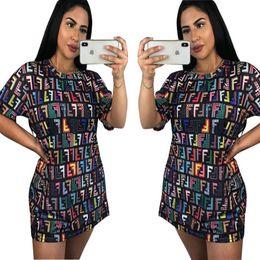 Russian Blocks NZ - 2018 New Fashion Women Dresses Personalized Russian Block Printed T Shirt Tee Shirt Mini Dresses Free Dropshipping