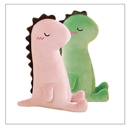 teddy couples gifts UK - 2018 New Large Dinosaur Soft Body Doll Children Ragdoll Pillow Couple Doll Plush Toy Girlfriend Birthday Gift