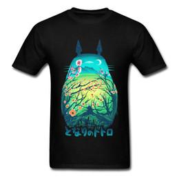 Cotton Cherry UK - Totoro Image Men Tshirt Japanese Anime Awesome T Shirt 100% Cotton 1 : 1 Printing Tees Slim Fitted T-shirts Tokyo Cherry Scene