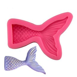 Tool shape candy online shopping - Mermaid Shaped Mould Pink Silicone Mold for Cake Chocolate Baking Candy Maker DIY Cake Soaps Kitchen Tools Bakeware