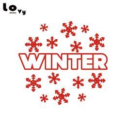 $enCountryForm.capitalKeyWord NZ - Merry Christmas Winter Snowflake Wall Sticker Xmas Art Wall Decel Home Decor WA0600